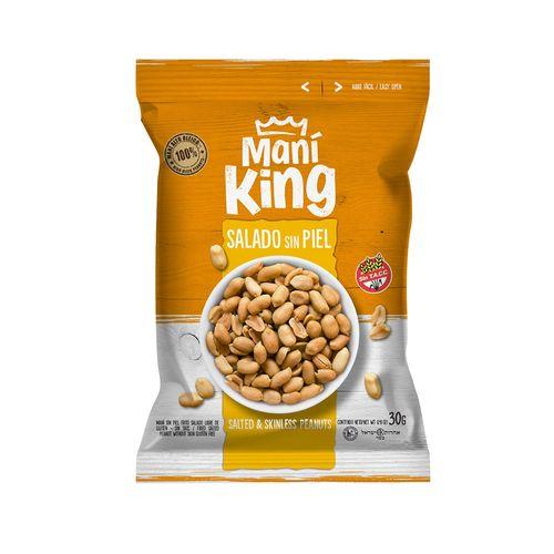 Maní Salado Sin Piel Mani King X 30 Grs