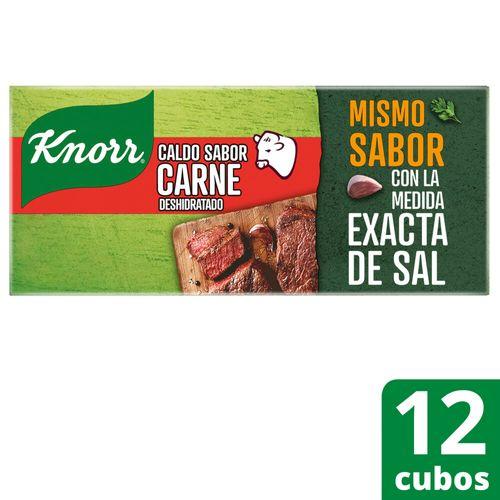 Caldo Knorr Cubo De Carne 12 Unidades