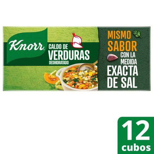 Caldo Knorr En Cubos De Verduras 12 Unidades
