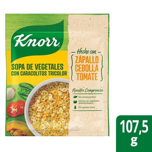 Sopa Knorr Veg Ccaracolitos 107,5g