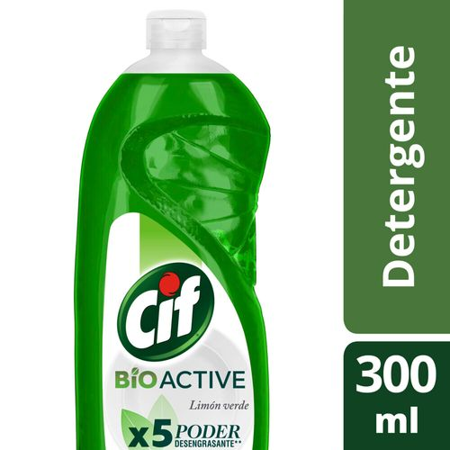 Detergente Cif Desengr Limon Verde Botella 300ml