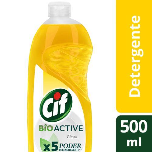 Detergente Cif Desengr Limon Bio Act Bot 500ml