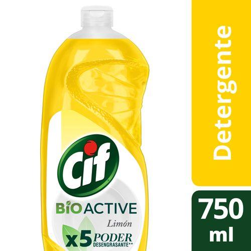 Detergente Cif Desengr Limon Bio Act Bot 750ml