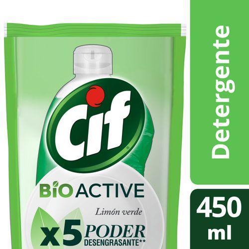 Detergente Cif Desengr Limon Verde Dp 450ml