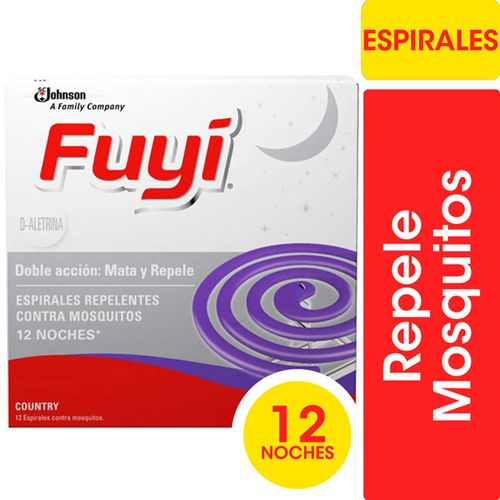 Espirales Insecticidas Mata Mosquitos Fuyi Country Fresh 12un