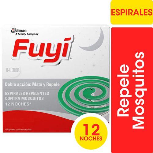 Espirales Insecticidas Mata Mosquitos Fuyi Original 12un