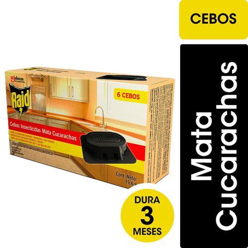 Insecticida Raid Mata Cucarachas Cebos 6u