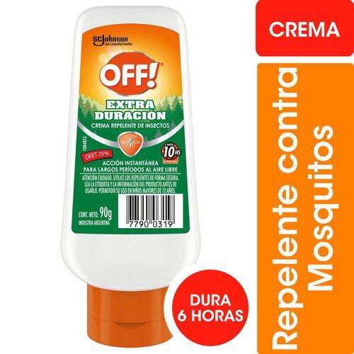 Repelente Para Mosquitos Off! Extra Duración Crema 90gr