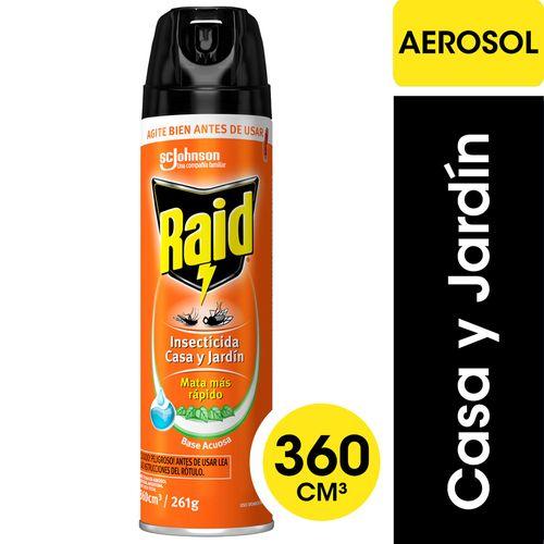 Insecticida Raid Casa Y Jardín En Aerosol 360cc