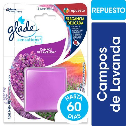 Aromatizante De Ambientes En Gel Glade Sensations Lavanda Repuesto 8gr
