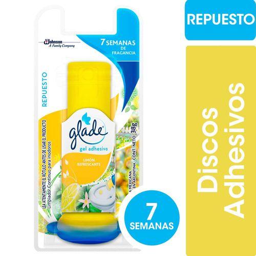 Limpiador Continuo Para Inodoros Glade Discos Activos Repuesto Limón Refrescante