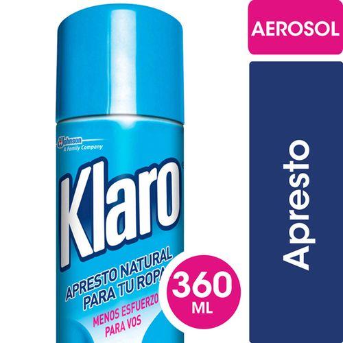 Apresto Aerosol Klaro 360 Ml