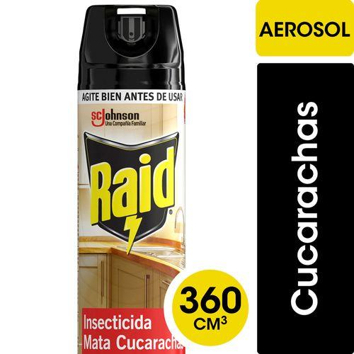 Insecticida Raid Cocina Mata Cucarachas En Aerosol 360cc