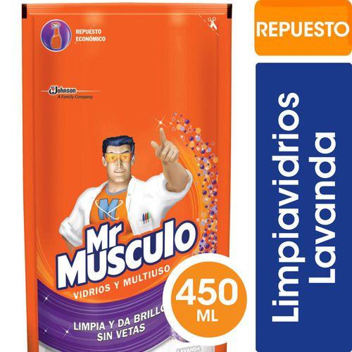 Limpiador Vidrios Y Multiuso Lavanda Doy Pack Mr Musculo 450 Ml