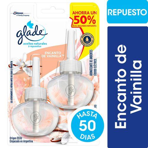 Aromatizante De Ambientes Glade Aceites Naturales Vainilla Repuesto X2 21ml