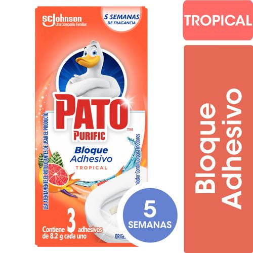 Limpiador Adhesivo Para Inodoros Pato Tropical 24.60gr