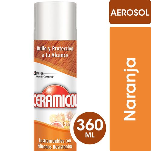 Lustramuebles Ceramicol Aerosol 360 Cc