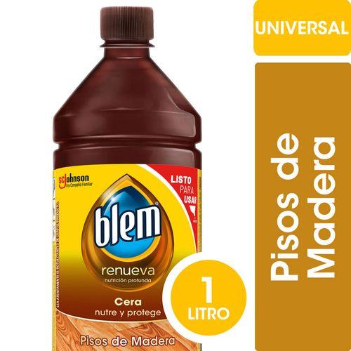 Cera Líquida Pisos De Madera Blem Universal Botella 1l