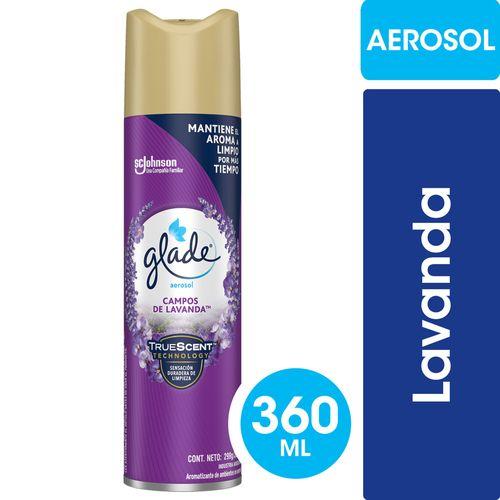 Aromatizante De Ambientes Glade Campos De Lavanda En Aerosol 360ml