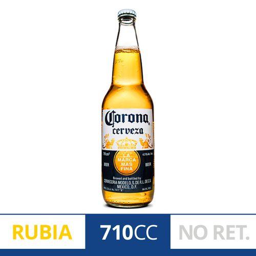 Cerveza Rubia Corona 710 Ml Botella Descartable