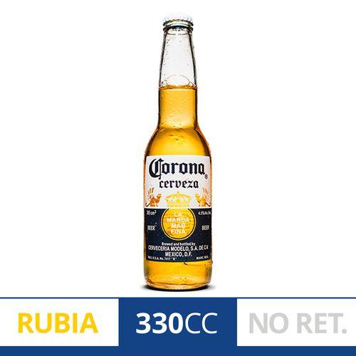 Cerveza Rubia Corona 330 Ml Porrón Descartable