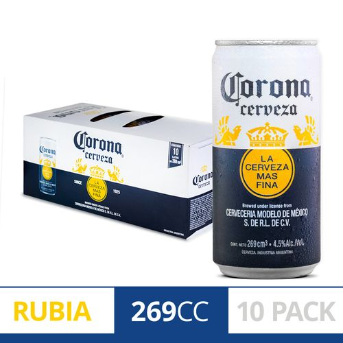 Cerveza Corona 269 Cc - 10 U