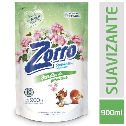 Suavizante Zorro Jardín Geranios 900 Ml