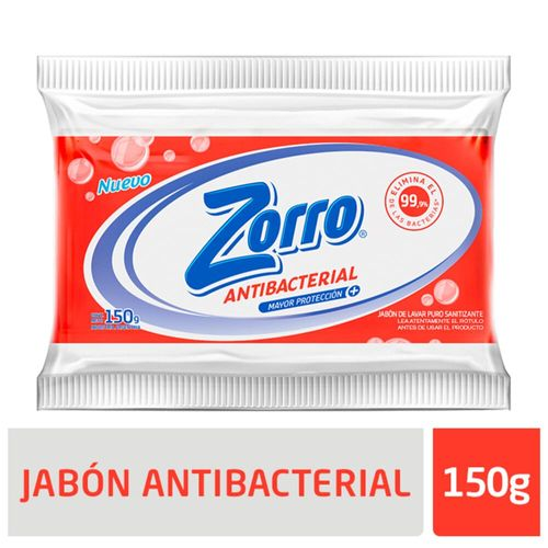 Jabon Comp. Antibacterial Zorro 150g X1u