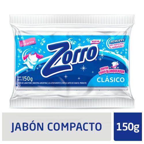 Jabon Com. Zorro Clásico Blanq. 150g X1u