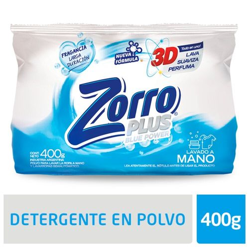Detergente Polvo Zorro Bluep 400gr
