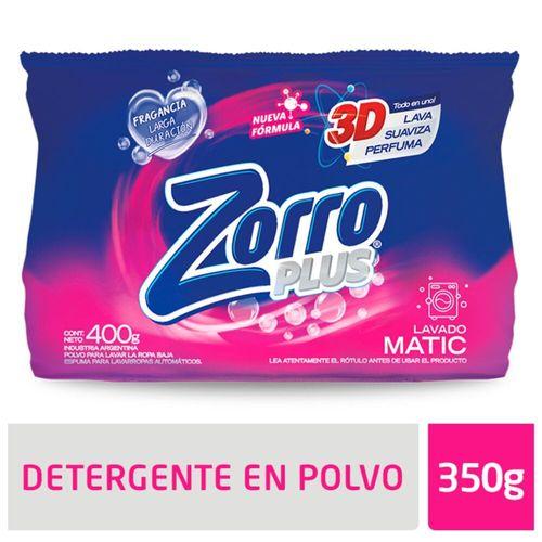 Detergente Polvo Zorro Clasico Be 400gr