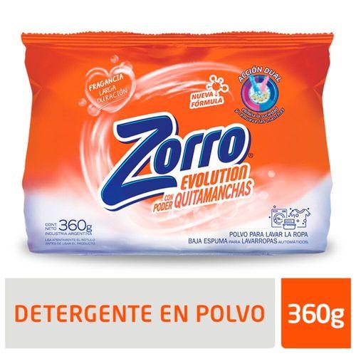 Detergente Polvo Zorro Evolution 360gr