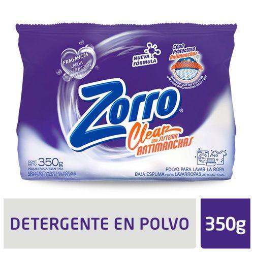 Detergente Polvo Zorro Evolution 350gr