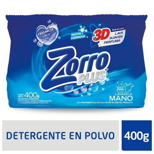 Detergente Polvo Zorro Clasico Ae 400gr