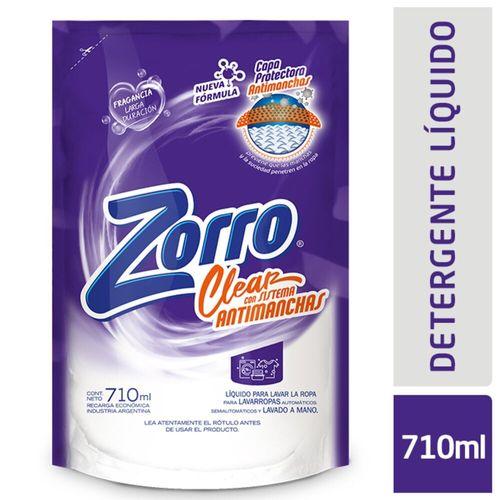 Det. Líquido Zorro Clear Dp 14x710ml-bp