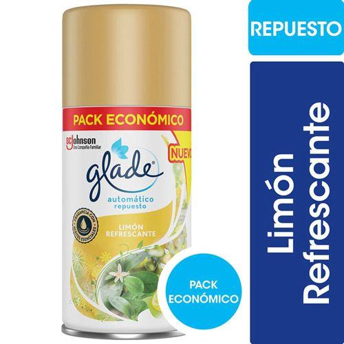 Aromatizante De Ambientes Automático Glade Limón Refrescante Repuesto 170ml
