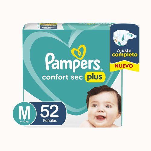 Pañales Pampers Confort Sec Plus M 52 Un