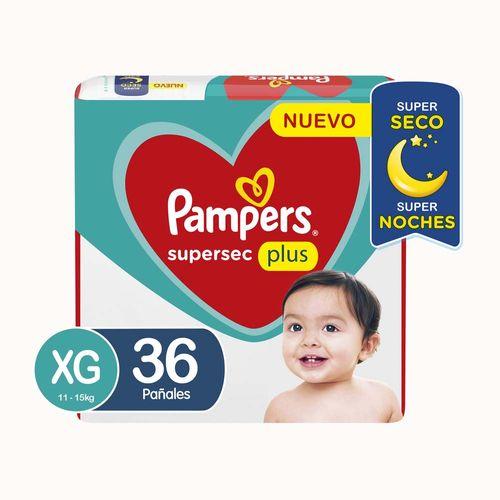 Pañal Pampers Supersec Xg X36un