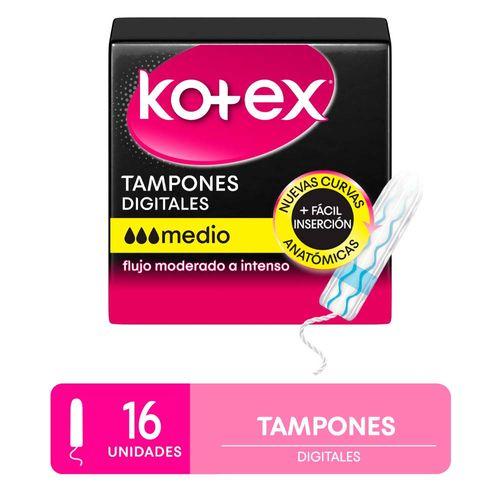 Tampones Kotex Mediano 16 U