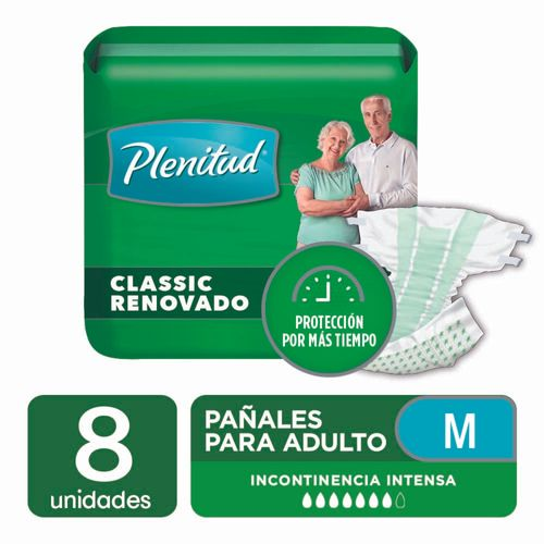 Pañal Para Adultos Plenitud Classic M 8 U
