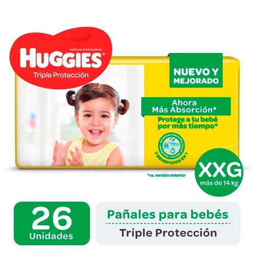 Pañal Huggies Triple Protecc Xxg X26un