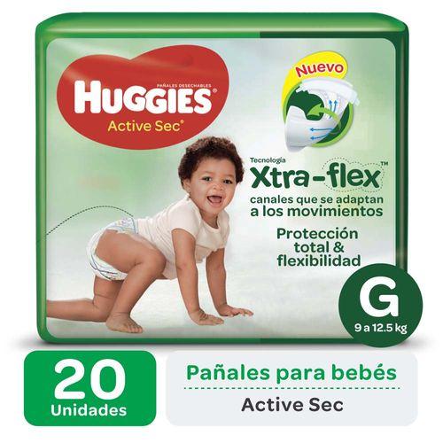 Pañal Huggies Active Sec G X20un