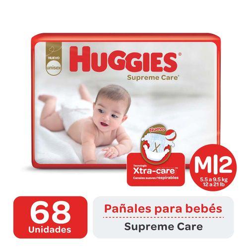 Pañal Huggies Supreme Care M X68un