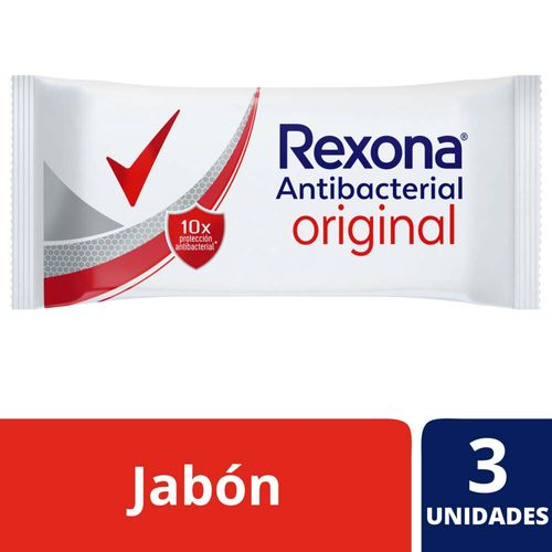 Jabón En Barra Antibacterial Rexona Original 3x90 G