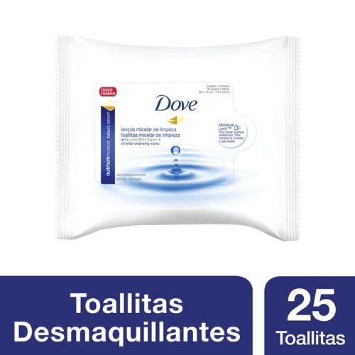 Toallitas Desmaquillantes Dove Con Agua Micelar 25 Unidades