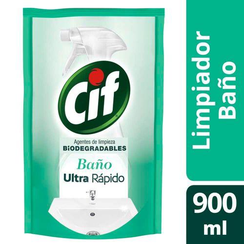 Limpiador Líquido Cif Baño Biodegradable 900 Ml Doypack