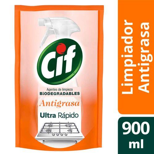 Limpiador Líquido Cif Antigrasa Biodegradable 900 Ml Doypack