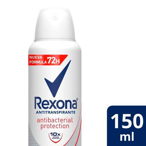 Desodorante Antitranspirante Rexona Antibacterial En Aerosol 150 Ml