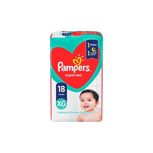 Pañal Pampers Supersec Xg X18un