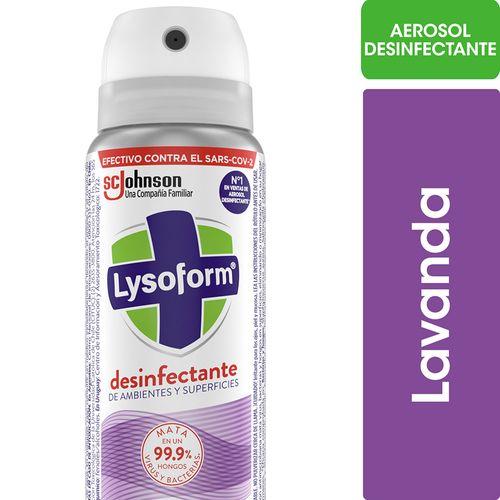 Desinfectante De Ambientes Y Elimina Olores Lysoform On The Go Para Llevar Lavanda En Aerosol 55ml